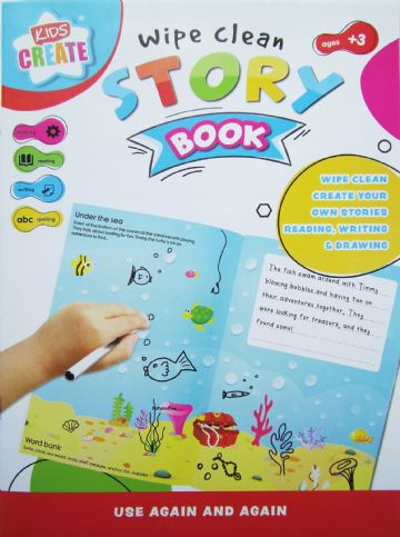 Childrens Write a Story Book Wipe Clean Reusable